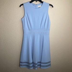 Calvin Klein light blue structured dress